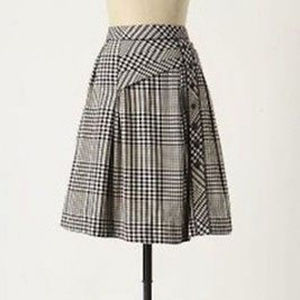Anthropologie Odille Plaid Skirt Size 2